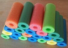 """40 x Pool noodles therapy, Craft, fishing water floating foam6""""-9"""" random colors"""