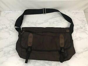 The Gap Messenger Shoulder Crossbody Travel Pouch Bag Haversack Brown 20X12 O