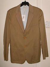 Pringle Of Scotland  Men's Camel Cotton/Cashmere Morice Blazer Jacket Size 42