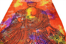 Indian Lord buddha Wall Hanging Tapestries Bedspread Ethnic Blanket Living Room