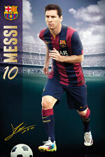 Lionel Messi THE MAN FC Barcelona Signature-Series Soccer Football Action POSTER