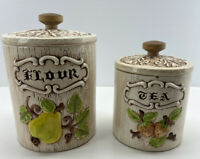 Vintage Treasure Craft CA Flour & Tea Canister Set, Adorable And Made In USA