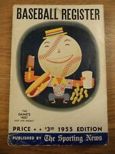 1955 SPORTING NEWS BASEBALL REGISTER  THE GAMES 400 PAST AND PRESENT