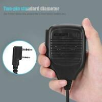 2 Pin PTT Speaker MIC Walkie Talkie Accessories for Kenwood Baofeng UV-5R UV-8D