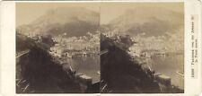 Monaco panorama Photo Alois Beer Klagenfurt Photo Stereo Vintage albumine