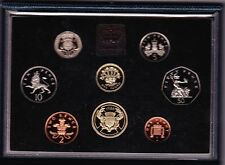 More details for royal mint 1986 standard proof set of 8 coins with certificate
