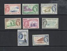 1953 Queen Elizabeth II SG148 - SG154 short set of 8 Mint Hinged CAYMAN ISLANDS