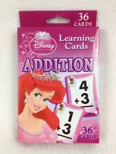 Disney Princess Flash Cards Addition Learning Kids Home School New