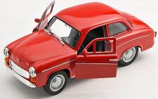 BLITZ VERSAND Syrena 105 FSM rot / red Welly Modell Auto 1:34 NEU & OVP