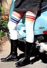 Thigh High Rainbow Striped Tube Socks SEXY! T3-35