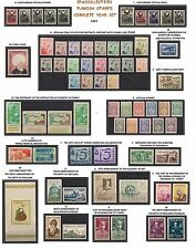 TURKEY 1957 COMPLETE YEAR SET, INCLUDES OFFICIAL AND DEFINITIVE STAMPS, MNH