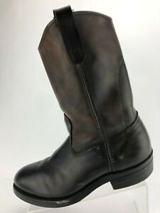 Red Wing Steel Toe Work Boots Cowboy Mens Brown Size 8 US