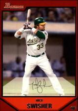 2007 Bowman Baseball #76 Nick Swisher Oakland Athletics