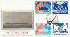 (51995) GB PPS Sothebys Channel Tunnel Laser 1st Through Tunnel Folkestone 1994