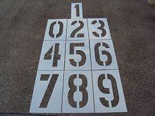 "24"" x 12"" Parking Lot Number Stencils 24"" Pavement Marking Number Stencils"
