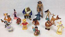 Disney PVC Figure LOT 15 Figures Beauty Beast Lion King Lilo Stitch Bambi Pooh +