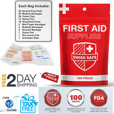 102 Piece First Aid Kit Emergency Medical Outdoor Survival Hiking Lightweight