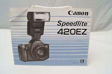 Canon Speedlite 420EZ electronic flash instruction manual 1986