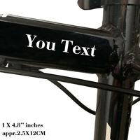 2X Custom Text Vinyl Decal Sticker Car Truck Bike Window Personalized Lettering
