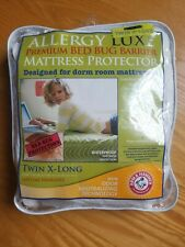 "Mattress Protector Twin X-Long Premium Bed Bug Allergy Luxe Dorm Room 39""x80""x9"""