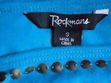 ROCKMANS SleevelessBrightBlueEmbellished35%CottonMix SzS