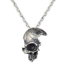 Necklace For Men #zh Half-length Damaged Broken Skull Pendant