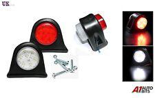2 X Side Marker Outline Led Light Lamp White Red  24 Volt Trailer Truck Lorry