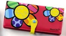 Romero Britto large wallet FLOWER NEW with tag
