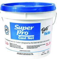 "NEW! Betts 21-8 Super Pro Mono Cast Net 8' 3/8"" Mesh 1.3Lb Lead per Ft Bucket"