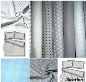 """100% Cotton fabric. Gray and white polka dots. Pattern of sheets width 63"""""""