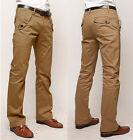 homme coton décontracté habillé chiné pantalon fin Jambe Droite affaires jeans