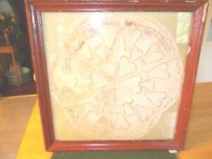 DATED 1786 HAND CUT CIRCULAR PAPER VALENTINE TRI CUT HAS HANDWRITING ON SOME PAR