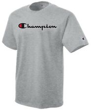af9a80ee CHAMPION Classic Script Logo Short Sleeve Athletic T-Shirt Tee New S-2XL