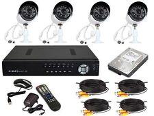 KIT VIDEOSORVEGLIANZA DVR 4 CANALI CON CAVI +HD 500GB