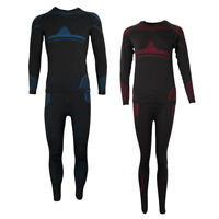 Thermal Underwear Set Long Johns Warm Top+Bottom Base Layer Ski Thermal Set