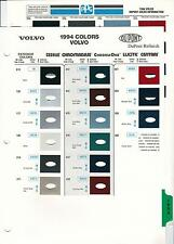 1994 VOLVO PAINT CHIPS (DUPONT AND PPG)