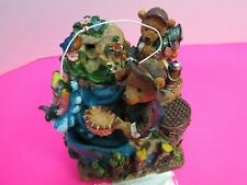 Classic Treasures Musical Fishing Bears Table Top Water Fountain In Box Video