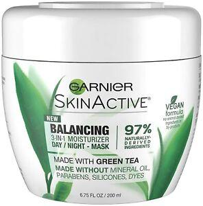 Garnier SkinActive 3-in-1 Face Moisturizer with Green Tea, Oily Skin, 6.75 fl.