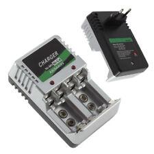 Cargador enchufe de la UE para pilas AA /AAA /9V /Ni-MH/Ni-Cd batería recargable