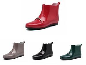 Women Ladies Wellies Rain Snow Waterproof Ankle Boots Kitchen Wellington Boots