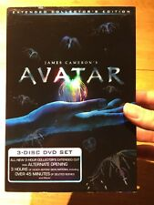 Avatar (DVD, 2010, 3-Disc Set, Extended Collector's Edition) New Sealed