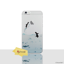 Penguins Cute Gel Case for Apple iPhone 5 5s SE Screen Protector Silicone Cover