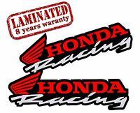 2 VINYL STICKERS HONDA RACING AUTO MOTO MOTORCYCLE MOTOCROSS CAR HELMET Z 21