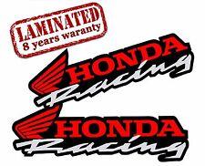 2 VINYL STICKERS HONDA RACING AUTO MOTO MOTORCYCLE MOTOCROSS CAR HELMET B 36
