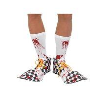 Sangriento Payaso Cubre Zapatos Halloween Payaso Disfraz Blanco y Negro