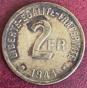 France - 2 Francs Allied Occupation Coin - 1944 (GY4)