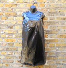 A.P.C. WOMEN'S BLACK PVC SLEEVELESS TANK DRESS SIZE LARGE NEW