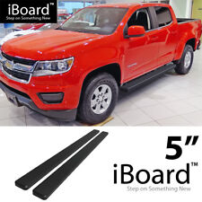 Running Board Side Step 5in Black Fit Chevy Colorado GMC Canyon Crew Cab 15-18
