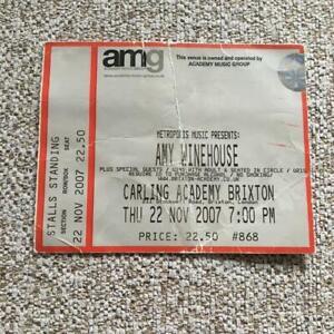 Amy Winehouse  ticket Brixton Academy 22/11/07 #868