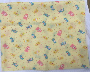 Vintage 1985 Care Bear Cousins Fabric 1.31 Yards